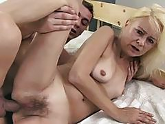 Horny Granny Gets Fucked Deep In Her Ass