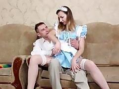 Yuliya gets fucked hard in her sexy uniform