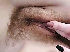 Ogil Basted masturbates with brush by her mirror