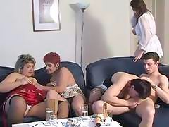Four horny moms feel bored and they want to fuck